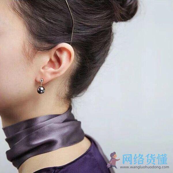 圆脸女生适合戴的耳钉